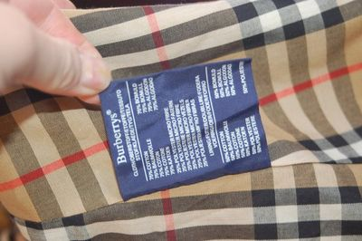 Dating burberry Labels