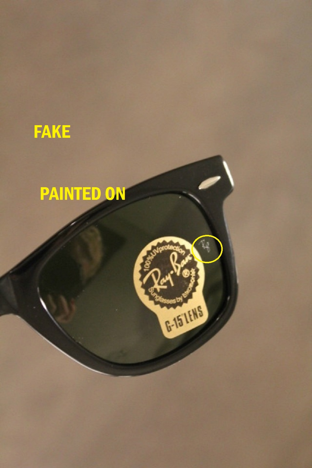 how can you tell if ray bans are real  fake ray ban sunglasses - The eBay Community