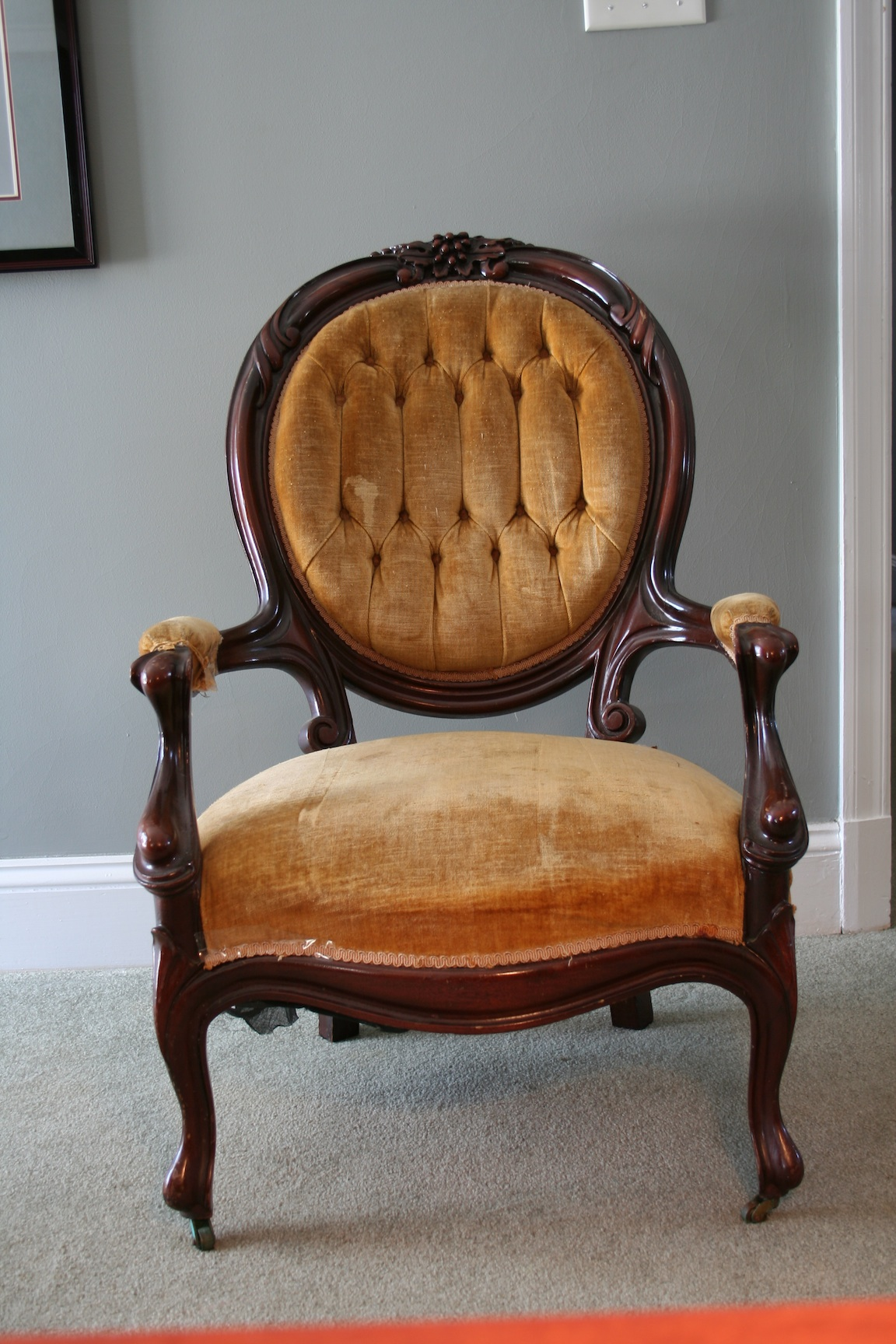 Is This Sofa And Chair Queen Anne Early S Fro The EBay - Vintage furniture san francisco