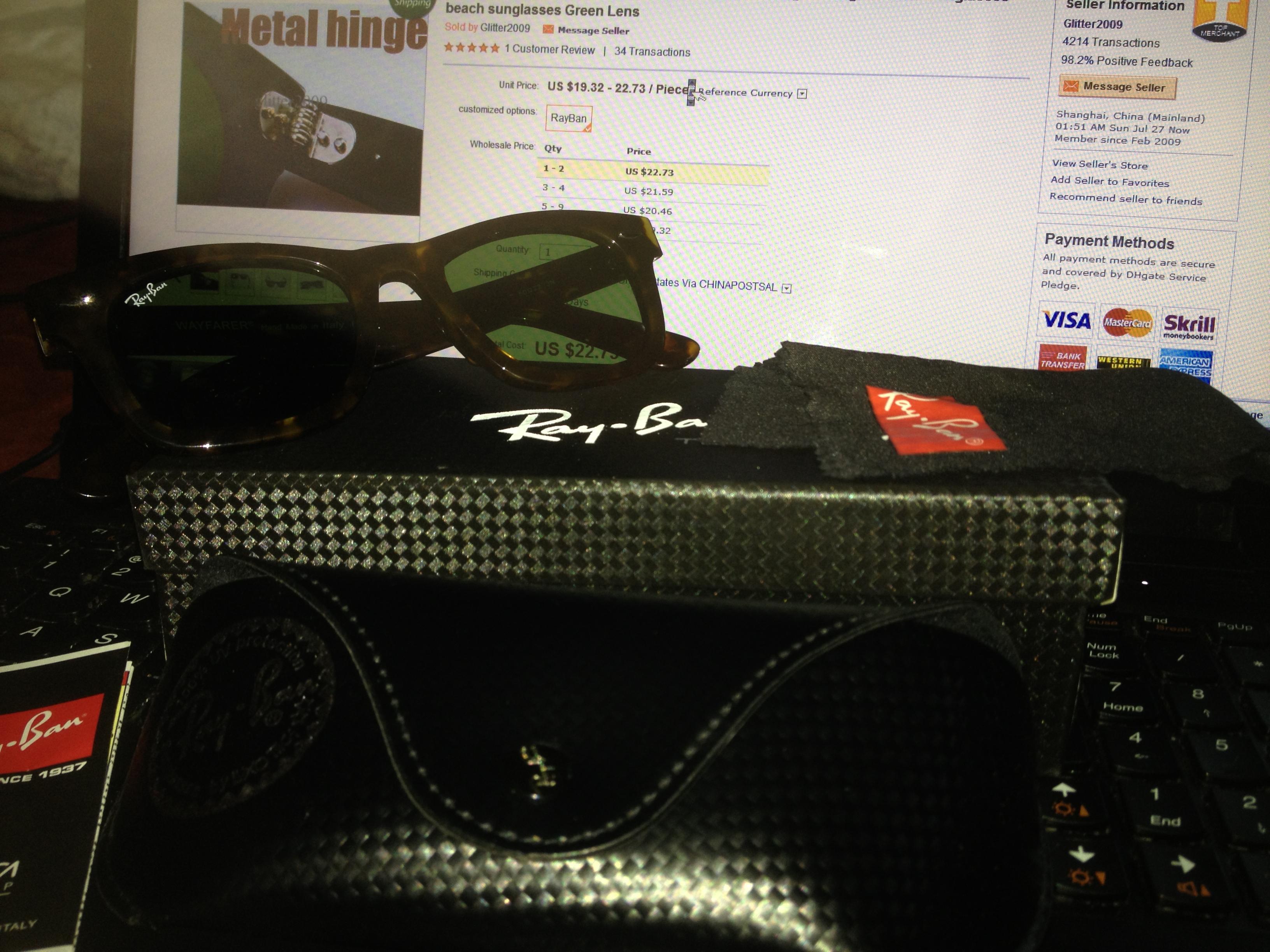 0f6c272337c fake ray ban sunglasses - The eBay Community