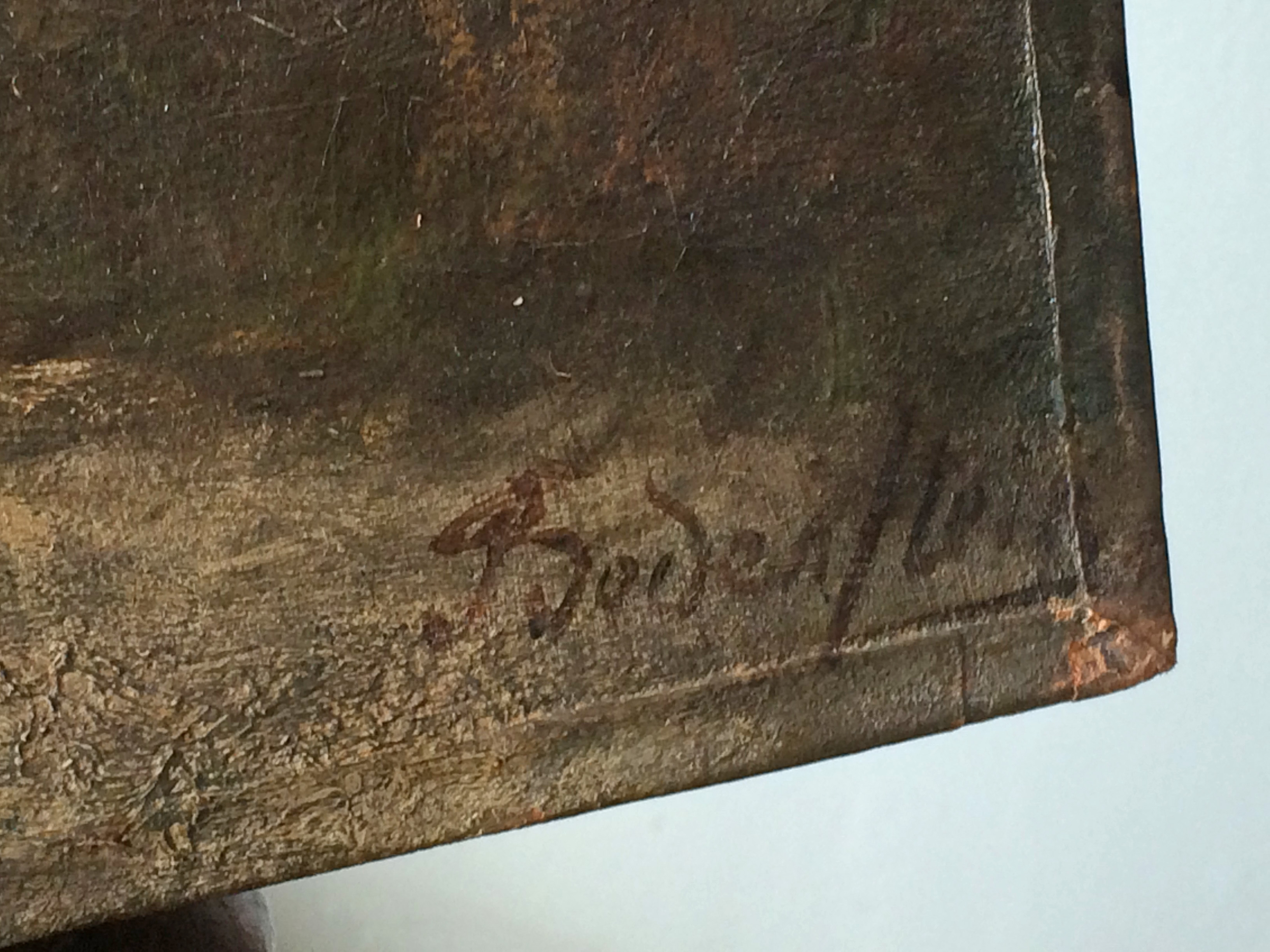 Help Identifying Signature On Antique Oil Painting The