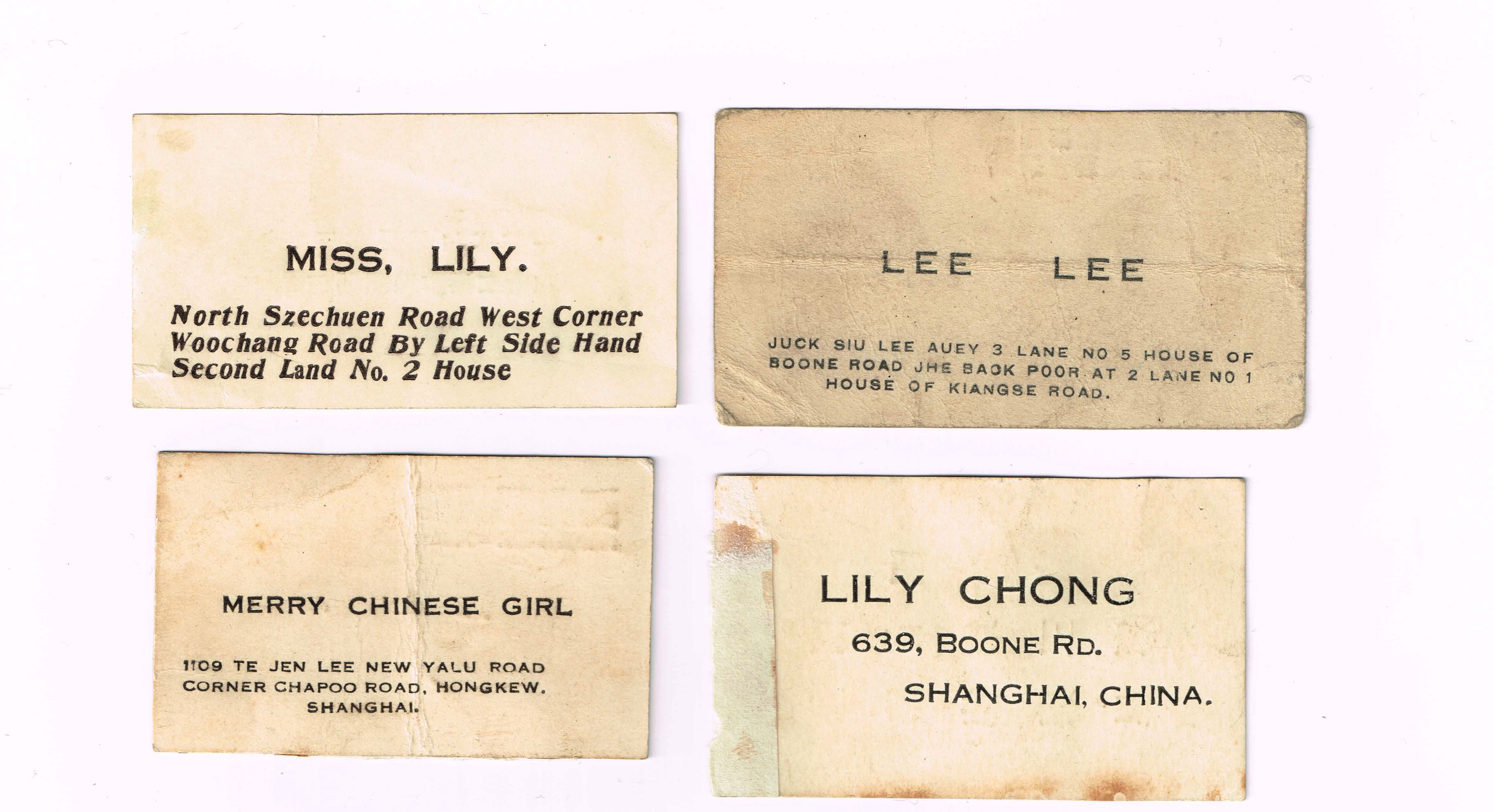 Can anyone read Chinese? 1920\'s Business Cards - The eBay Community