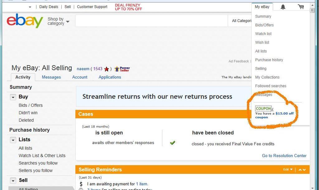 Ebay discount coupons usa