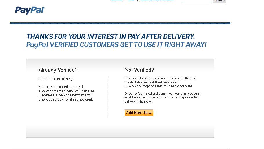 Solved PayPals PAY AFTER DELIVERY Evil News The EBay Community - What is paypal invoice buy online pickup in store same day