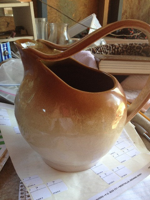 Need help identifying this old POTTERY pitcher wit    - The eBay