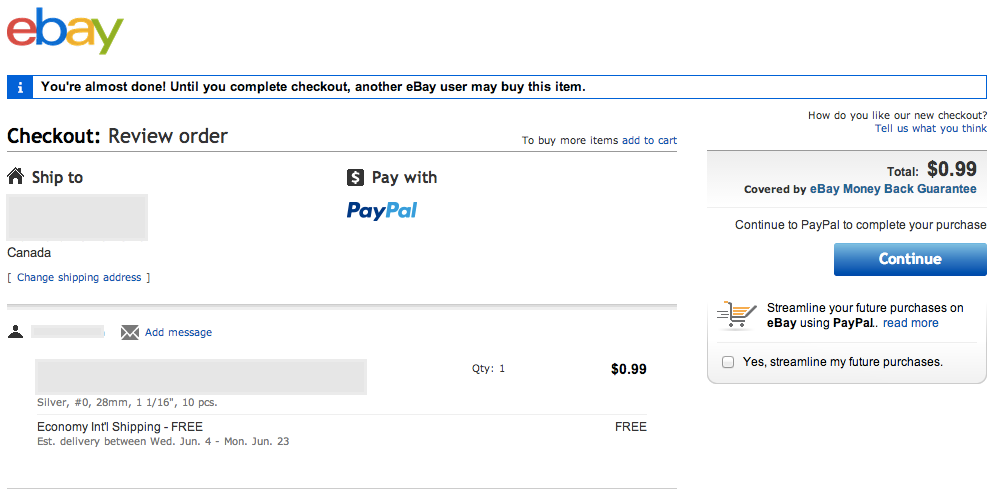 shipping address on ebay and paypal don't match, r    - The