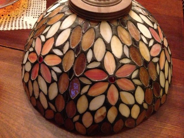 Heart tiffany company stained glass lamp shade the ebay community the aloadofball Choice Image