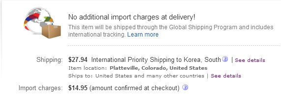 Import Charge in Global Shipping Program - The eBay Community