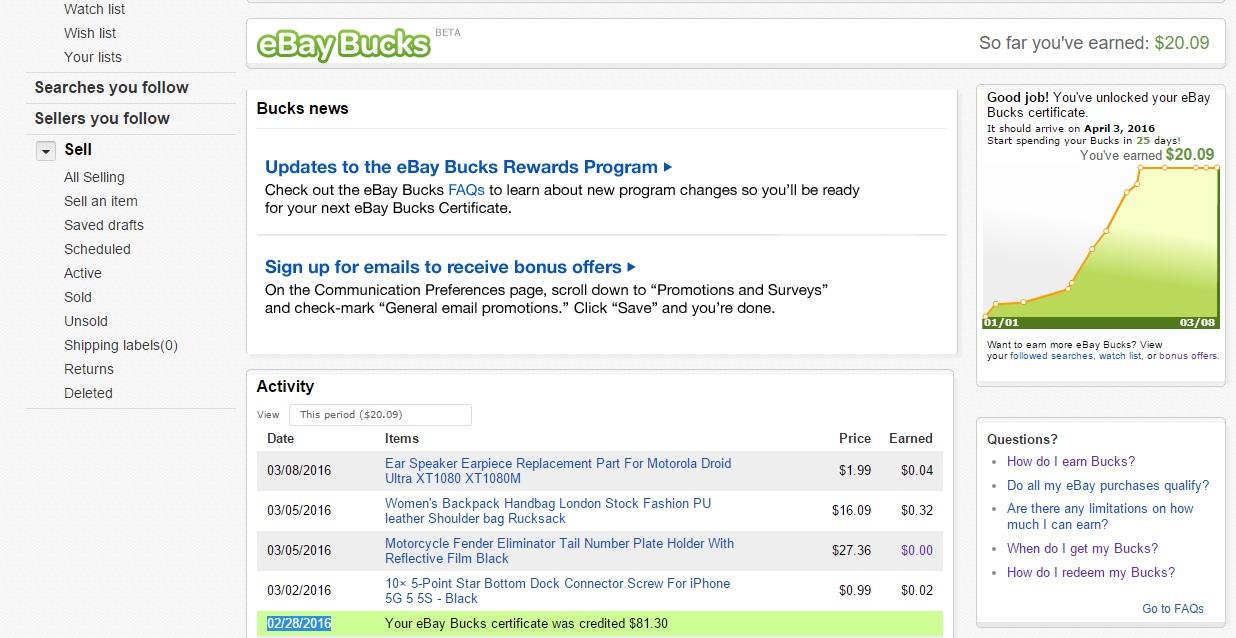I Cant Use Refunded Ebay Bucks The Ebay Community