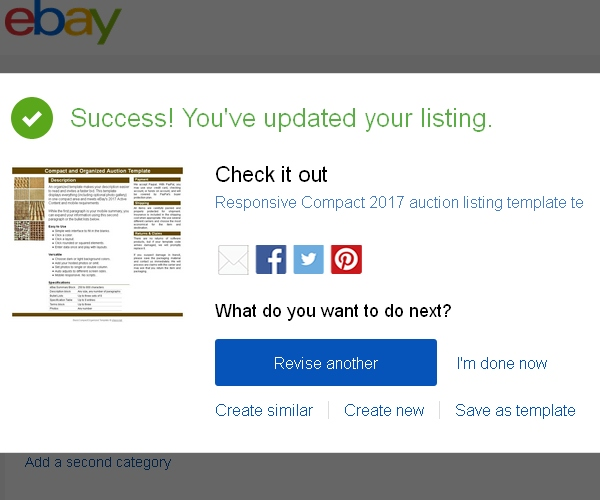 Solved How Do I Save A Current Listing As A Template The EBay - How to create ebay template