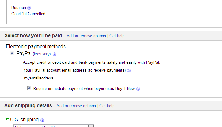 Ebay Payment Options >> No Option For Requiring Immediate Payment Selling The Ebay