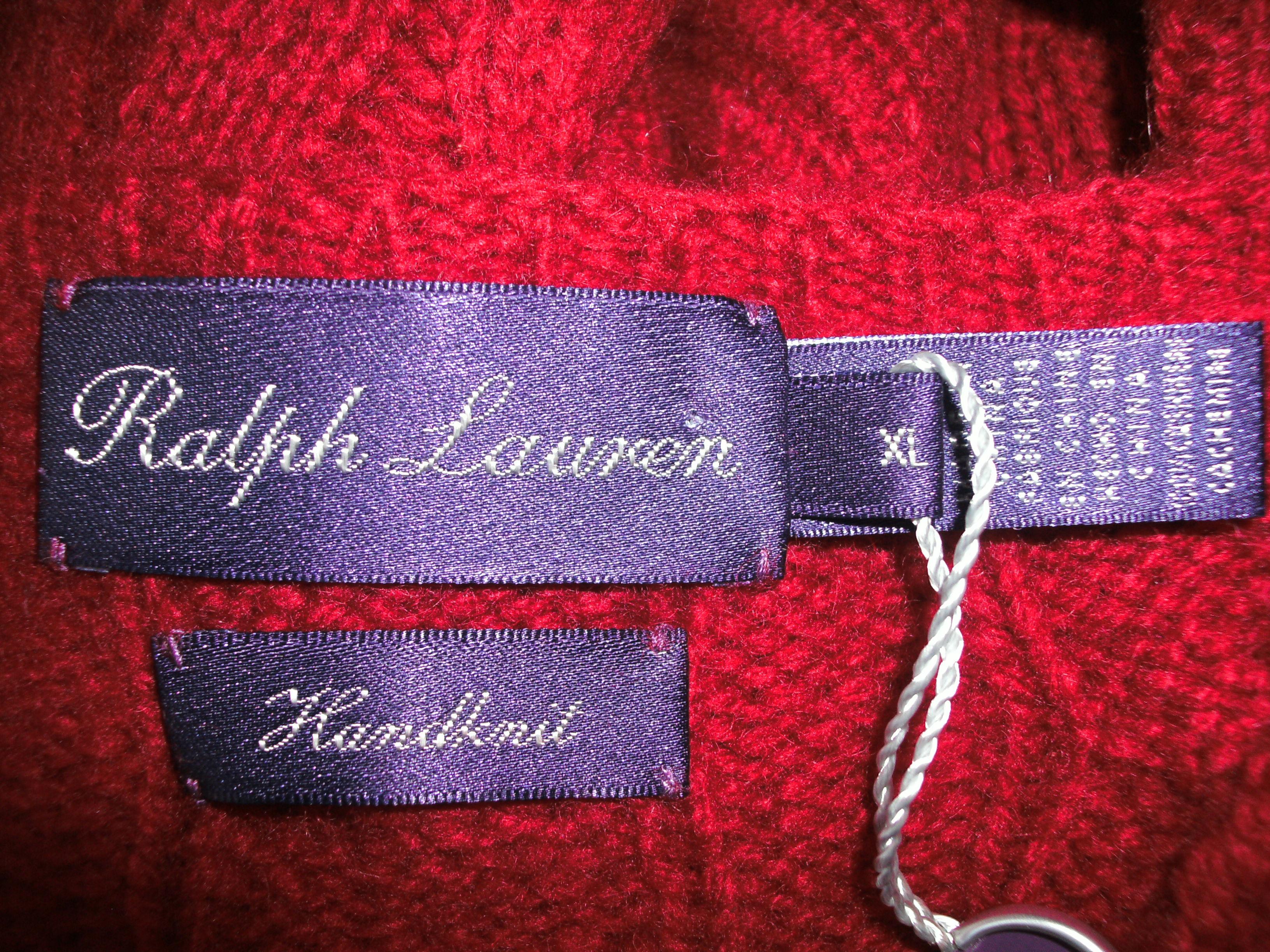 Purple Tag: Ralph Lauren Purple Label Cashmere Sweater Made In