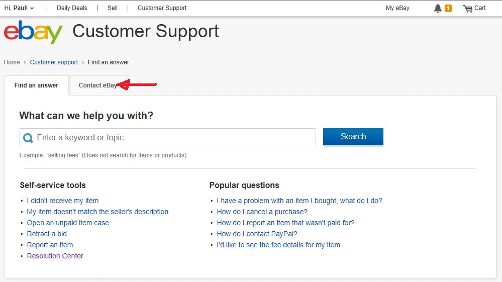 Is It Possible To Contact Ebay Support Via Email R The Community