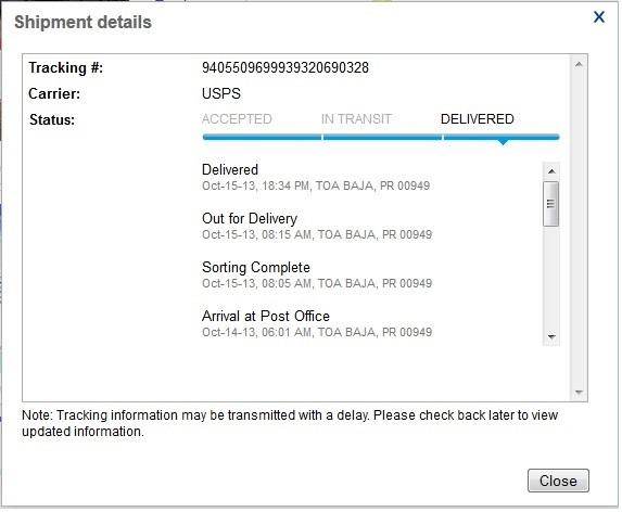 Ebay shipping tracking not updating