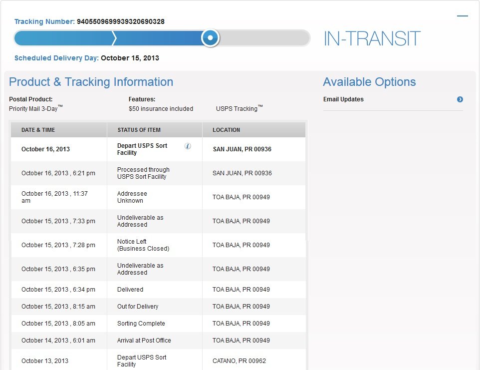Ebay tracking information not accurate and untrue - The eBay