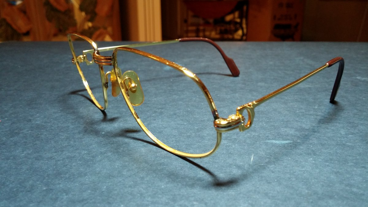 Cartier Gold Eyeglasses - The Closet Fairy Strikes... - The eBay ...