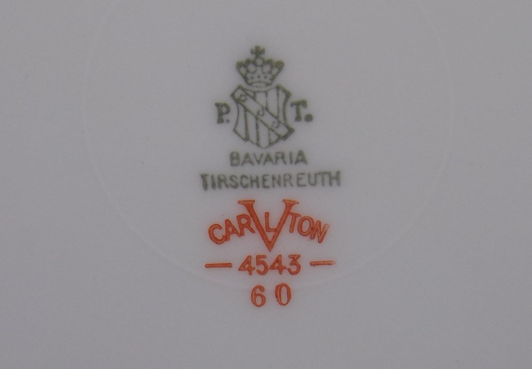 P T Tirschenreuth Bavarian plate, Carlton pattern     - The